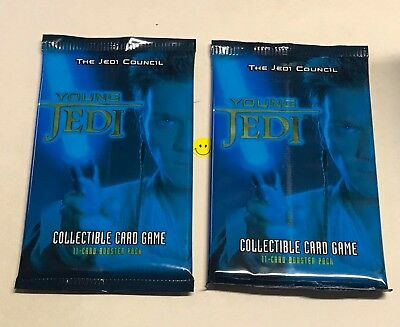 Star Wars 2 x The Jedi Council Booster Pack from Box NEW Card Game Young