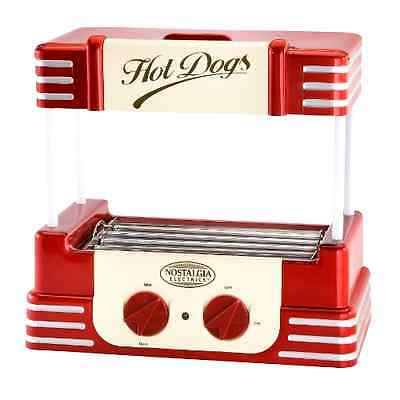 Retro Hot Dog Roller Electric Grill Cooker Machine HOTDOG Bun Warmer Steamer NEW