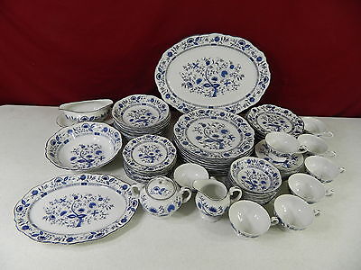 62 Piece Blue Onion Sone China Made in Japan Dinnerware Set & 62 PIECE Blue Onion Sone China Made in Japan Dinnerware Set ...