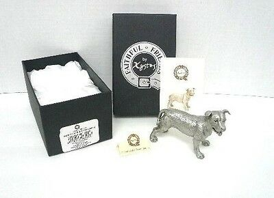 Faithful Friends Staffordshire Bull Terrier Standing Solid Pewter Dog Figurine