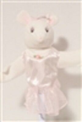 American Girl Angelina Ballerina Doll Head Hand Puppet Plush Mouse Toy