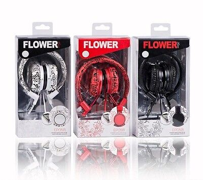 Yongle Flower Love Music Foldable On-Ear Headphone Headset with Microphone