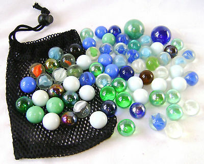 New Hot Shots Mega Marble Pack 72 Glass Marbles In Net Tp226