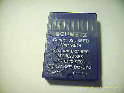 106 pc SCHMETZ sewing machine needles B-27 SES MY 1023 SES SY6120SES NM 90/14
