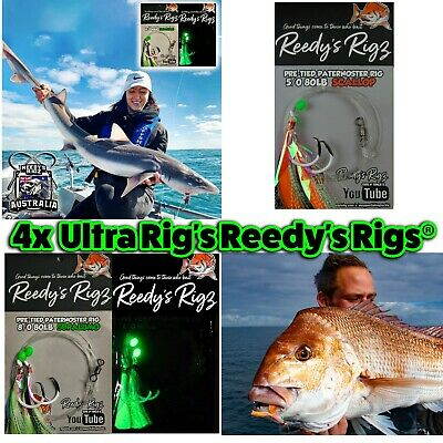 5 Snapper Rigs Flasher Rigs Tied On 60lb Leader Paternoster Reedys Bait Fish