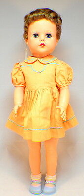"""Ideal Vintage VP 23""""  1950's Posie Doll with original dress and shoes red-blond"""