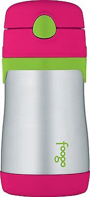 THERMOS FOOGO Insulated Stainless Steel 10oz Straw Bottle Baby Kid Mug Cup Drink