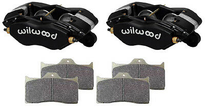 """Wilwood Forged Dynalite-M Brake Calipers & Pads,black,1"""" Discs,1.75 Pistons,race"""