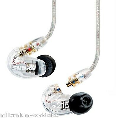 New, Shure Se215 Cl - Sound Isolating Earphones, Dj, Monitoring Earbuds / Clear