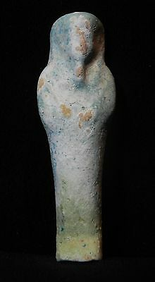 Zurqieh - Ancient Egypt . Beautiful Ancient Ushabti With Demonic Inscription