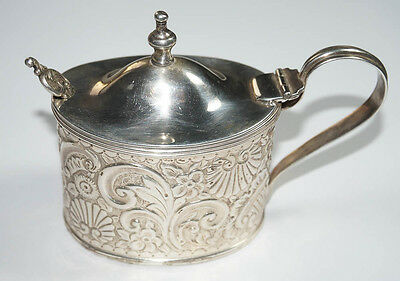 Very Special, Antique English Silver Mustard Condiment Pot – Birmingham!