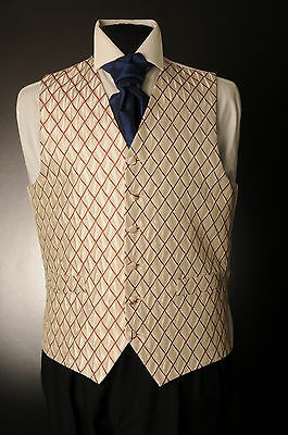 W-576 Mens&boys Gold Claret Diamond Wedding Waistcoat Formal/dress/wedding/sui