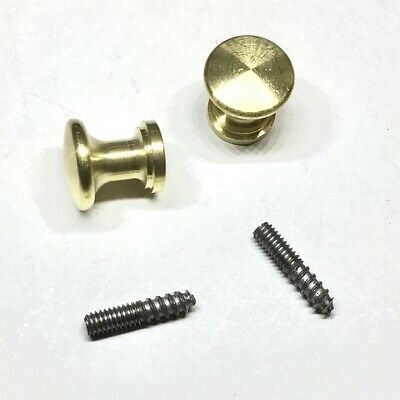 """Piano Fallboard/Key Cover/Desk Knobs, 5/16"""", 1 Pair, Solid Brass"""