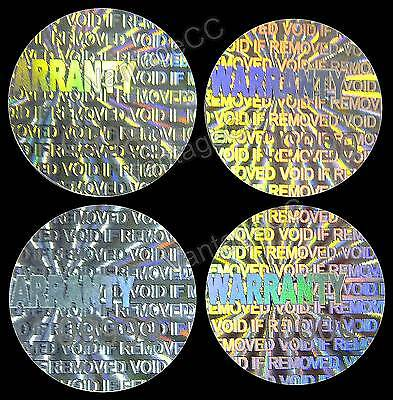 """SMALL """"WARRANTY"""" Hologram Stickers, NUMBERED 12.5mm Round Labels, Tamper-proof"""