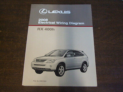 2008 LEXUS RX400H RX 400H  ELECTRICAL WIRING DIAGRAM Service Repair Manual OEM