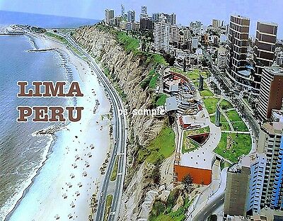 Peru - LIMA - Travel Souvenir Flexible Fridge MAGNET