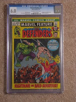 Marvel Feature #2 2nd appearance of the Defenders CGC 6.0 OW to W pages