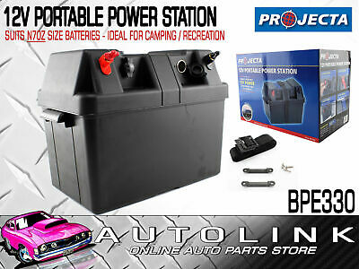 Projecta Bpe330 12V Portable Power Station - Takes N70Z Size Battery - Camping