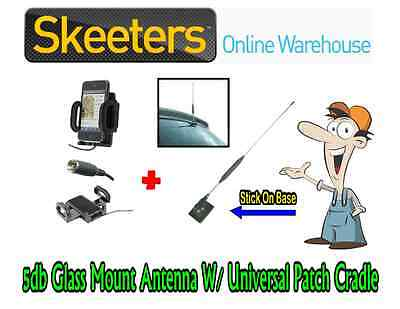 5db Glass Mount Mobile Phone Antenna W/ Universal Patch Cradle- iPhone Android