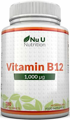 Vitamin B12 1000mcg Methylcobalamin 180 Berry Flavoured Melts 100% Guarantee