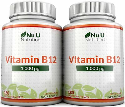 Vitamin B12 Methylcobalamin 1000mcg  2 Bottles Berry Flavoured Melts 100%