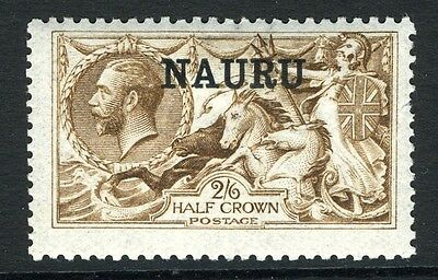 NAURU-1916-23 2/6 Brown.  A lightly mounted mint example Sg 21