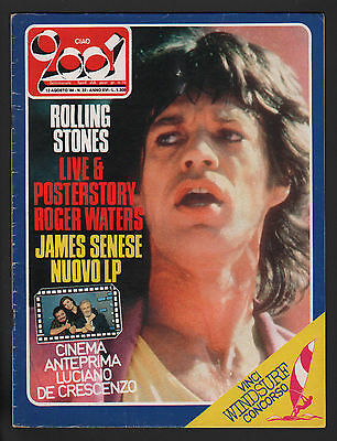 Ciao 2001 32/1984 Rolling Stones Jacques Brel James Senese Ian Dury Rio Carnival