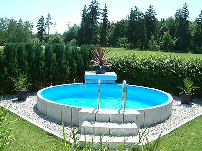 rundbecken 5m x 1 2m poolset mit zubeh r rundpool schwimmbecken gartenpool rund eur. Black Bedroom Furniture Sets. Home Design Ideas