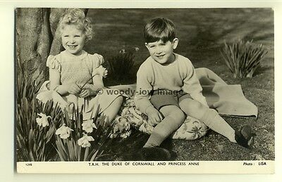 q1918 - T.R.H Prince Charles & Princess Anne as Children - postcard - Tuck's