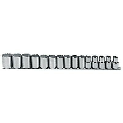 Proto J54206 1/2 Drive 15 Pc. Metric Socket Set - 12 Point