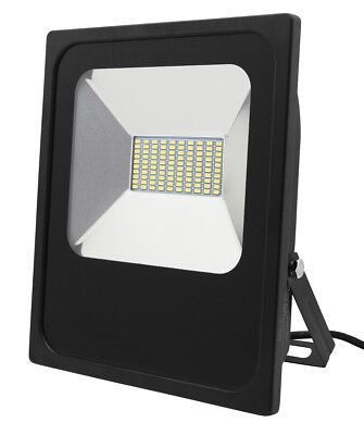 50W Slimline Wide Beam LED Flood Light for Forecourt Industrial Use 400W