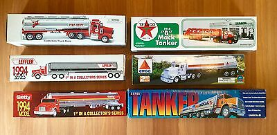 90S 2000S Getty Citgo Unocao Texaco Fire Cheif Leffler Tanker Truck Toy Lot Of 6