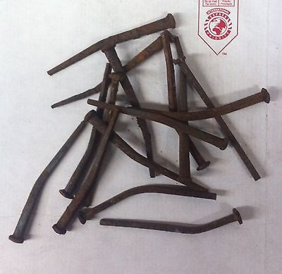 "500 (25LB'S) ANTIQUE (bent) WROUGHT IRON SQUARE 4.5"" LONG NAILS"