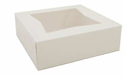 Southern Champion Tray 24013 Paperboard White Window Bakery Box (Case of 200)