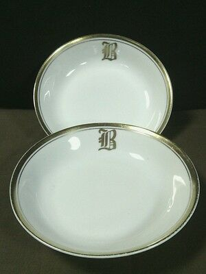 (2)Antique H & C Selb Bavaria Stouffer Painted Gold Trim Small Bowls,Germany