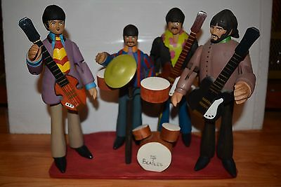 The Beatles Figures Dolls Wooden Yellow Submarine