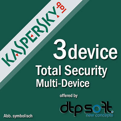 Kaspersky Total Security 3 PC for Version 2017 Internet Security 3 USER'S PURE