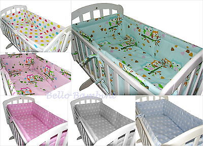 7p BABY SWINGING/ ROCKING CRIB /CRADLE BEDDING SET/ALL ROUND BUMPER 100% COTTON!