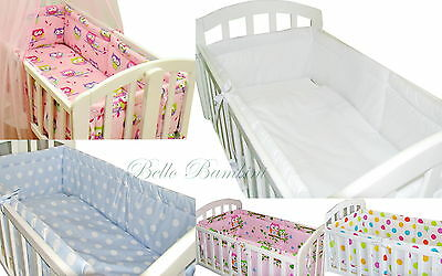 4p BABY SWINGING/ ROCKING CRIB/CRADLE BEDDING SET/ALL ROUND BUMPER 100% COTTON!!