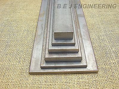 Black Flat Mild Steel Bar  40 to 150mm wide x 5 to 25mm thick- 200 to 1000mm lg