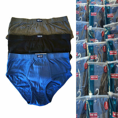 New Wholesale Lot 240 pc Veto Men Cotton Underwear Brief Bikini Hipster Sz L XL