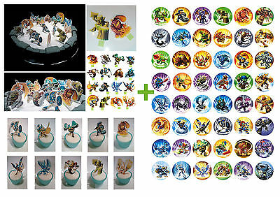 Skylander 16  Cup Cake STAND UP DiY & 48 Skylanders & Giants Toppers  PARTY *