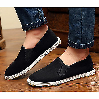 Chinese Martial Arts Kung Fu Shoes/Slippers/Plimsoll Leisure Wear Black Rubber