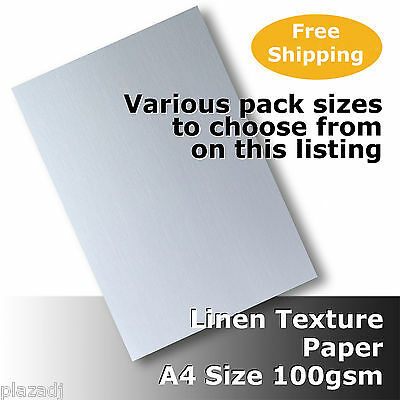 Linen Texture Finish Paper A4 Size 100gsm High Quality White #H6011