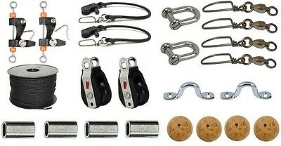 Outrigger Deluxe Rigging Kit Including Hal-Lock Pulleys