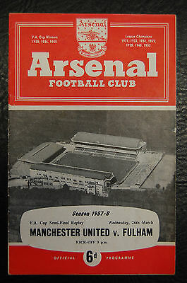 1958 Fa Cup Semi-Final Replay  Manchester United V Fulham