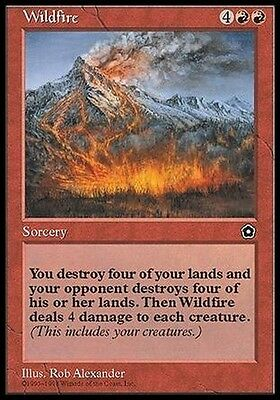 Incendio Selvaggio - Wildfire MTG MAGIC PO2 Portal Second Age English