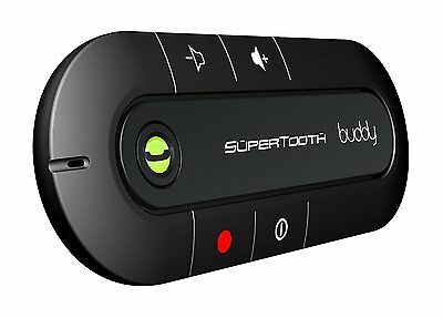 SuperTooth Buddy Kit Vivavoce Bluetooth per Auto, Nero