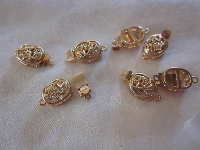 5 Gold Plated Box Clasps 19x10x5mm #3199