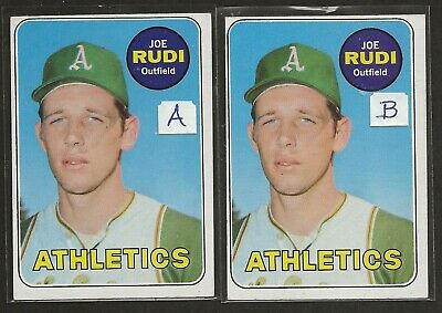 1969 Topps #587 Joe Rudi Kansas City Athletics Rookie RC EX